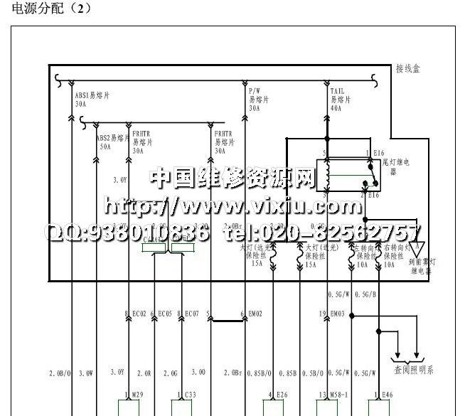 2008江淮瑞风祥和MPV全车电路图详细资料高清图片
